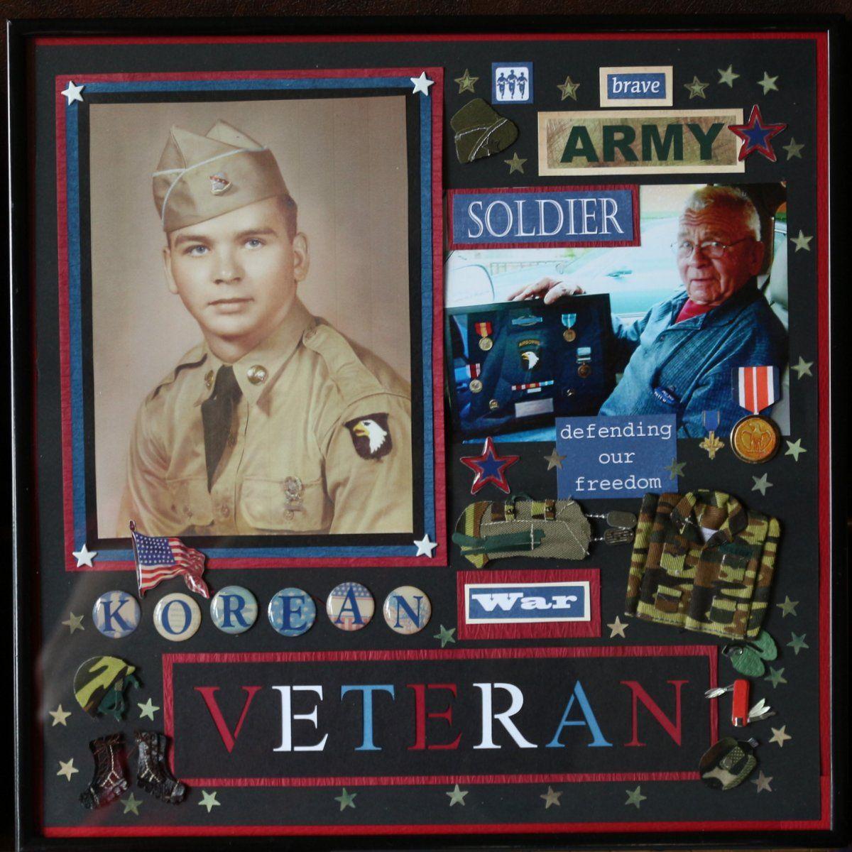 Scrapbook ideas military - Military Scrapbook Layouts See More Korean War Veteran Scrapbook Com