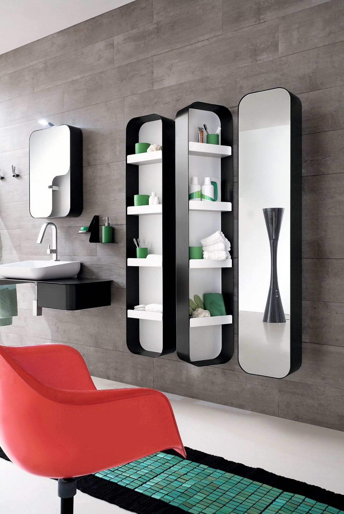 Tall Storage Bathroom Cabinet With Mirror Tulip Bathroom Cabine Decoration De Salle De Bain Moderne Miroir Salle De Bain Salles De Bains Lumineuses