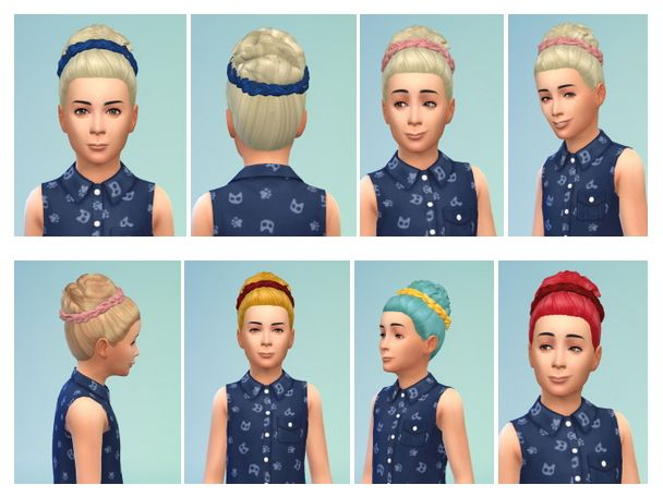 Girly Dutt with Braided Band at Birksches Sims Blog via Sims 4 Updates
