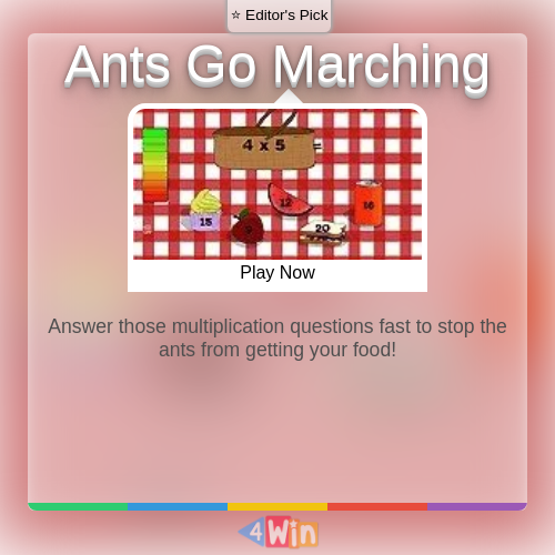 Ants Go Marching Game Free Online Games in 2020 Fun