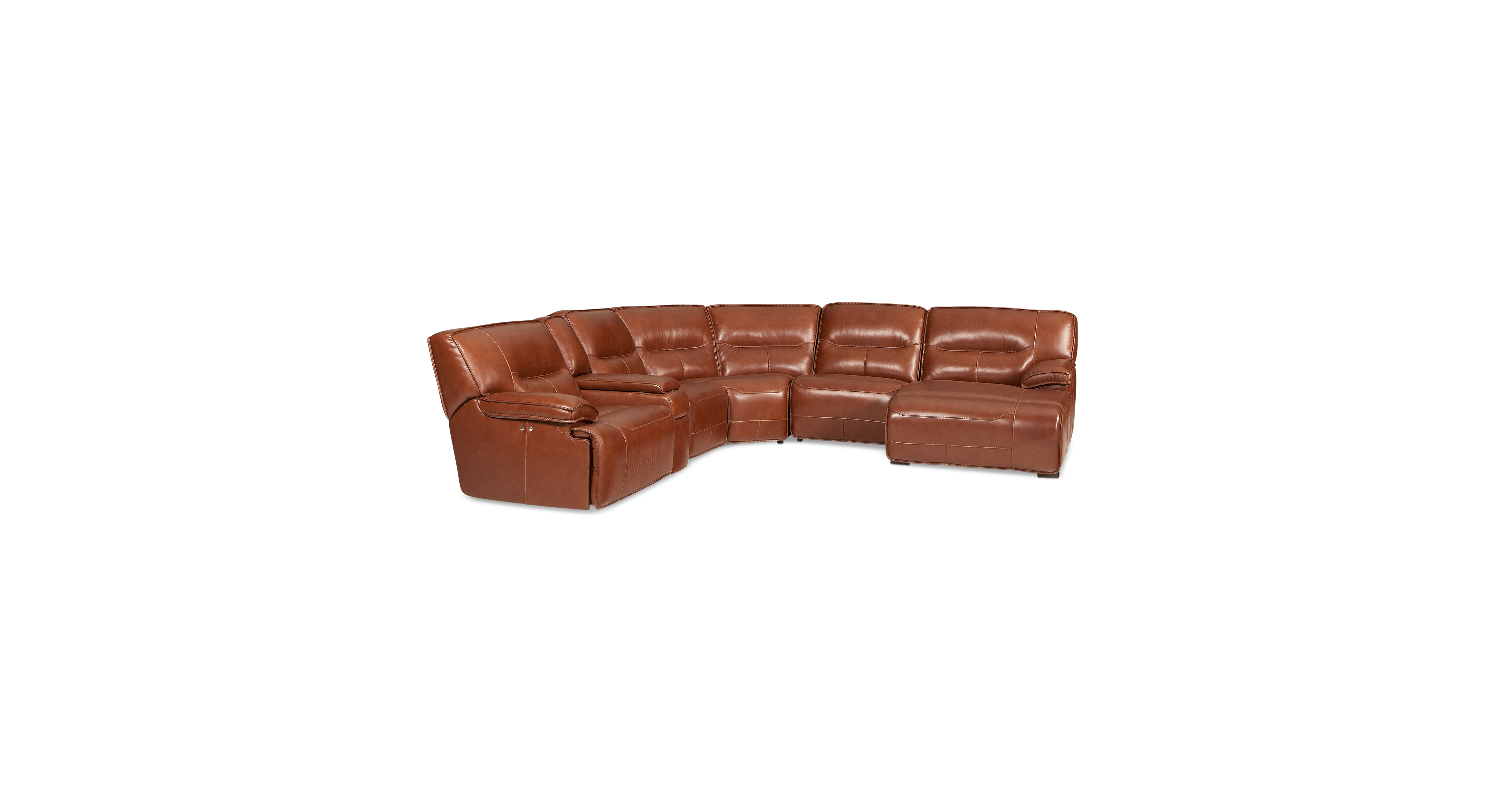 beckett leather 6 piece chaise sectional sofa with 2 power recliners rh co pinterest com