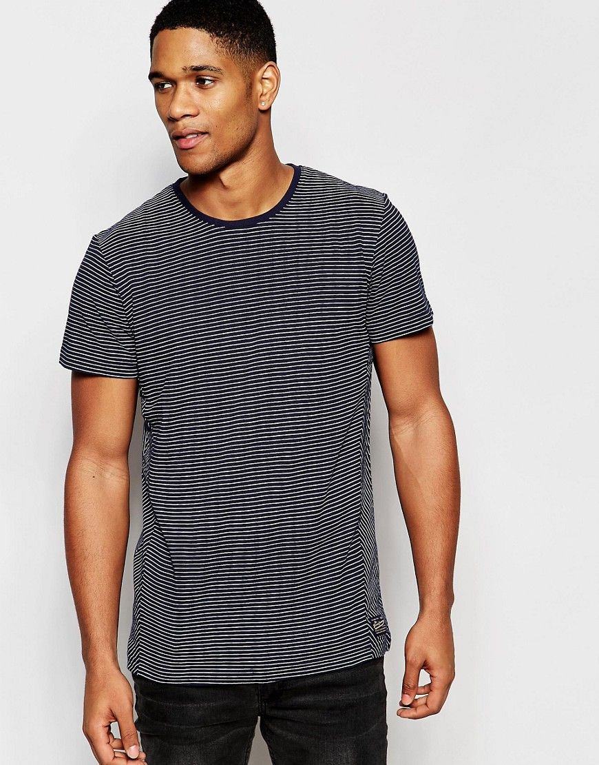 Solid Stripe T-Shirt with Contrast Pocket saved by #ShoppingIS