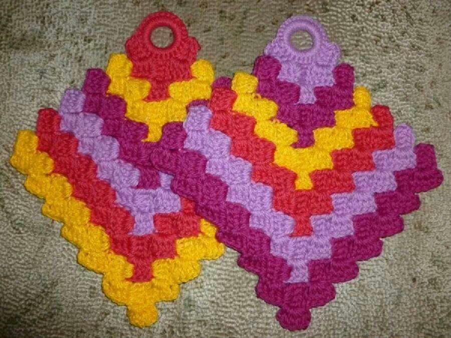 Famoso Patrones De Crochet Libre De Soporte De Cacerola Bosquejo ...