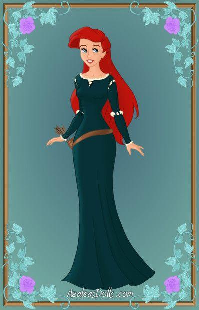 cd69972869 Ariel as Merida by Heroine-FA-C-n-Xover.deviantart.com on  deviantART