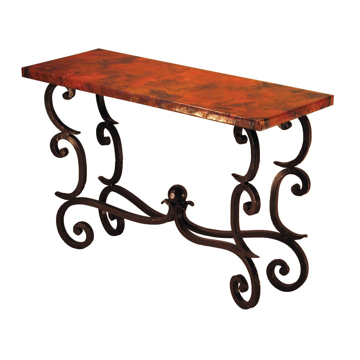 Copper Instincts Forged Fountain Console Entry Table