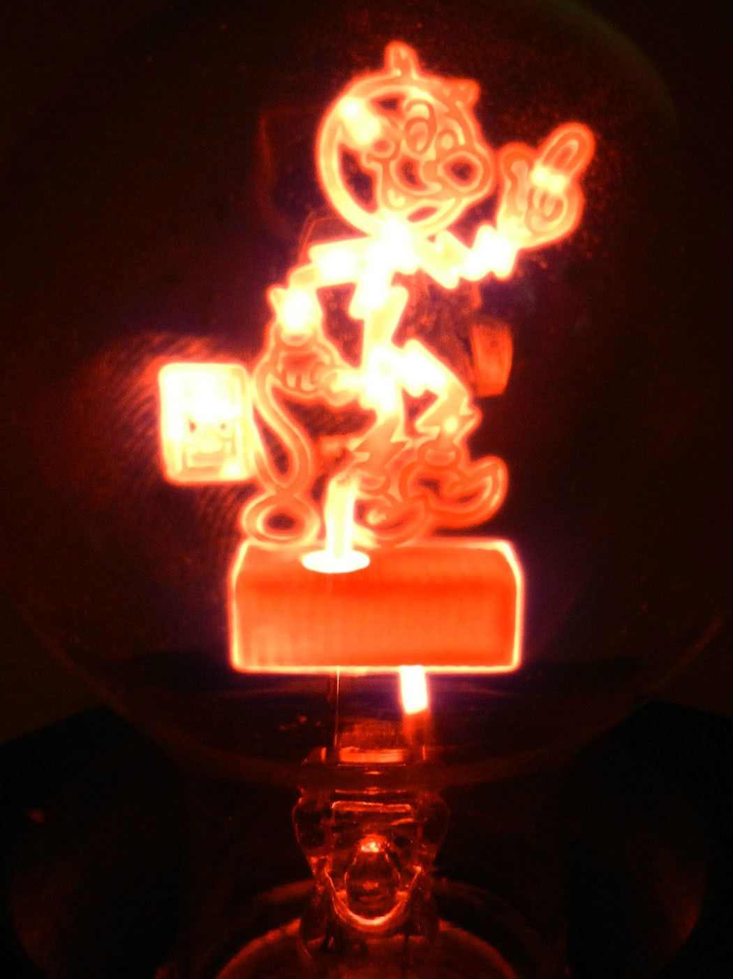 Reddy Kilowatt Aerolux Figural Filament Light Bulb And Lamp Working  Condition   EBay