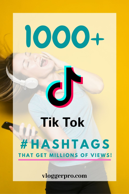 1000 Tiktok Hashtags That Get Million Of Views In 2021 Social Media Planner Hashtags Marketing Strategy Social Media