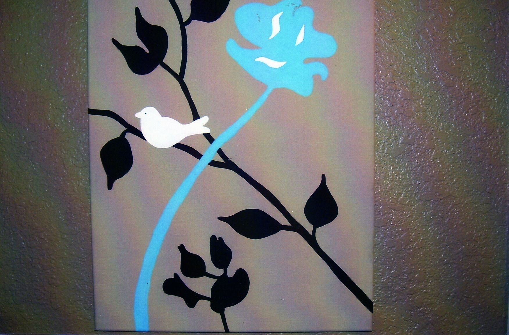 Pin By Michelle Grillo On Stuff I Made Canvas Painting Bathroom