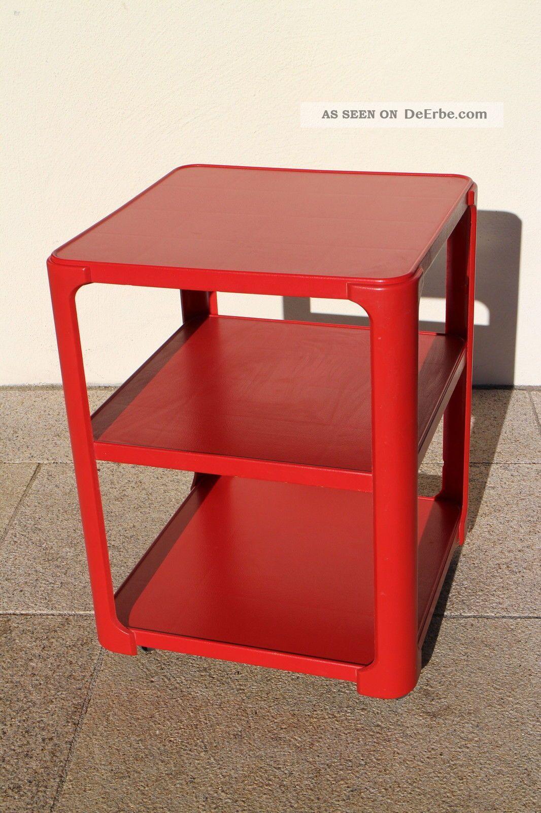 50 60er Jahre Schumm Plastic Style Beistelltisch Rolltisch 1960