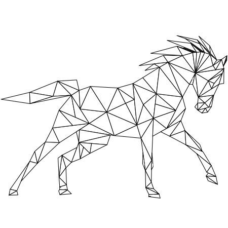 Dessin coloriage cheval au galop a colorier motifs - Fer a cheval dessin ...