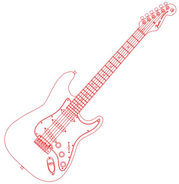 Fender Stratocaster Vector Image Fender Stratocaster Fender Music Tattoo Designs