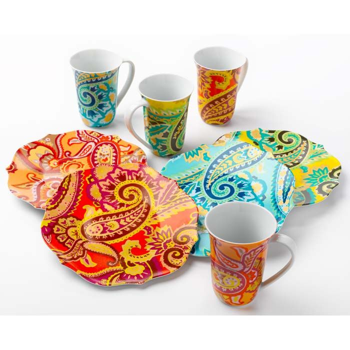check out this Dashing Darjeeling Dishware - loves me some paisley!  sc 1 st  Pinterest & paisley | Home ideas | Pinterest | Dinnerware and Kitchens