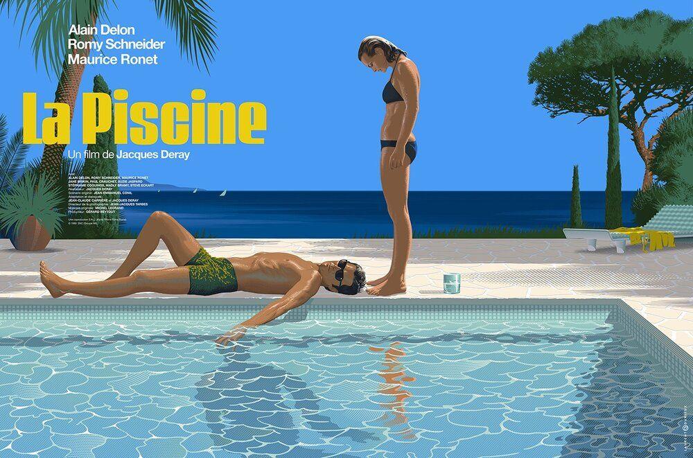 La Piscine By Laurent Durieux Nautilus Art Prints Laurent Durieux Film La Piscine Affiche Cinema