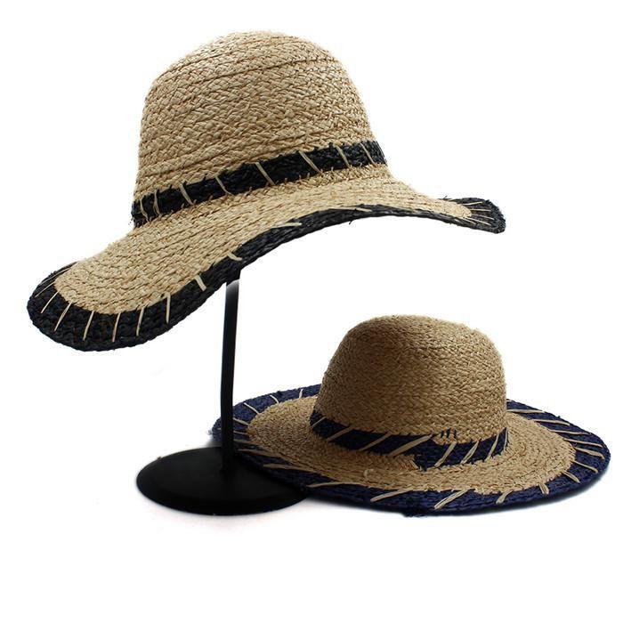 ca7fd26537f75 Fashion Summer Women Natural Raffia Straw Sun Hat Girl Wide Brim Dome Bucket  Hat Elegant Lady