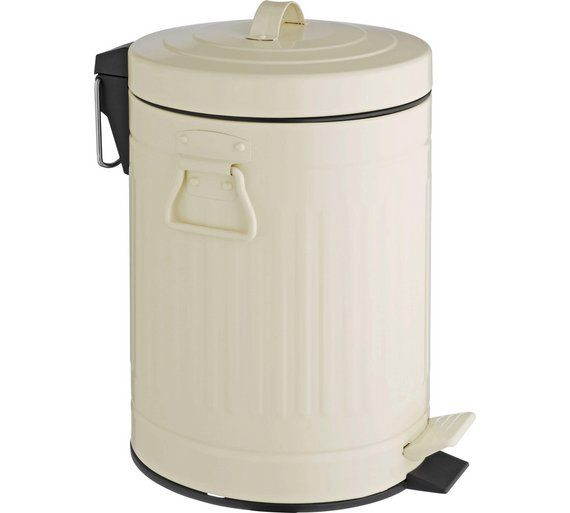 Habitat Sesamee 5l Metal Bathroom Bin Cream At Argos Co Uk