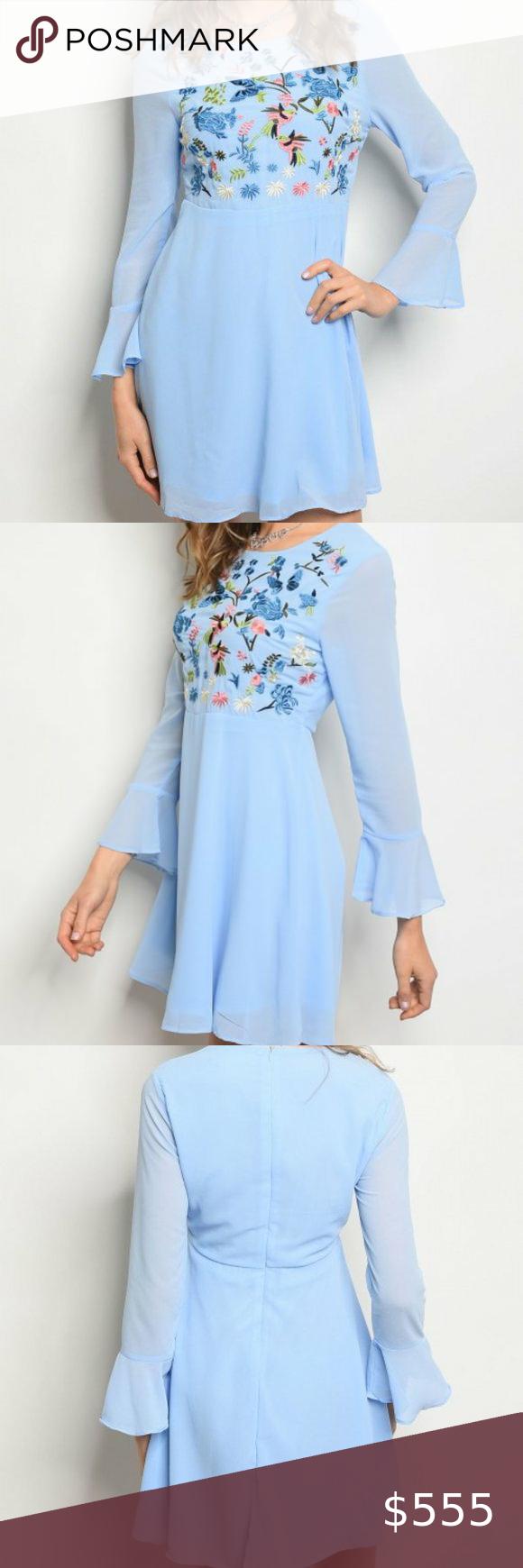 Prettylittlething Baby Blue Long Sleeve Long Sleeve Dress Outfit Long Sleeve Midi Dress Blue Bodycon Dress [ 1868 x 1200 Pixel ]