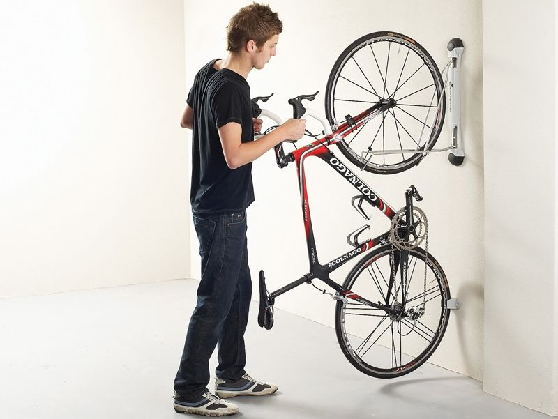 Vertical Bike Rack That Can Swivel To Be Flat Against Wall Bike