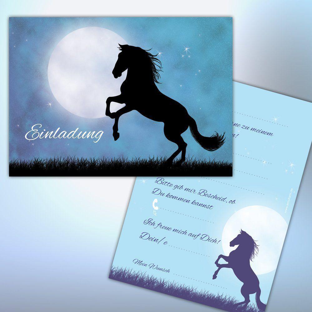 kostenlose einladungskarten zum selbst drucken pferd - www