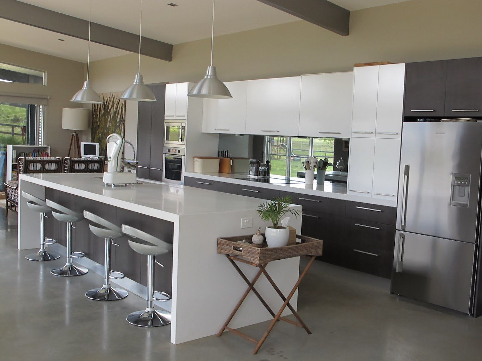 Kitchen : Kitchen Furniture Nice White High Gloss Island Kitchen ...