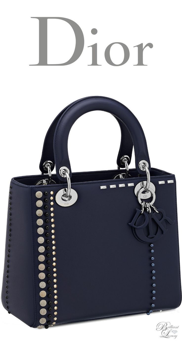 907d3bf36c69 Brilliant Luxury   Dior Cruise 2016 ~ Lady Dior bag in calfskin studded  with beads and rhinestones