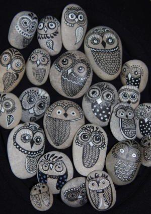 Steineulen Zukunftige Projekte Pinterest Steine Steine