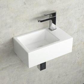 Lave Mains Suspendu Droite Ou Gauche 37x23 5 Cm Pure Lave Main Lave Main Wc Lave Main Toilette