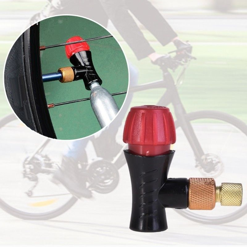 Bicycle Inflator Head Replace For Presta Schrader Valve Co2 Pump