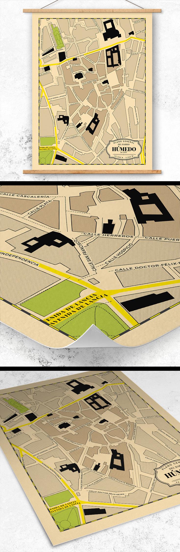 Barrio Humedo Leon Mapa.Plano Del Barrio Humedo De Leon Su Estilo Cartografico Esta