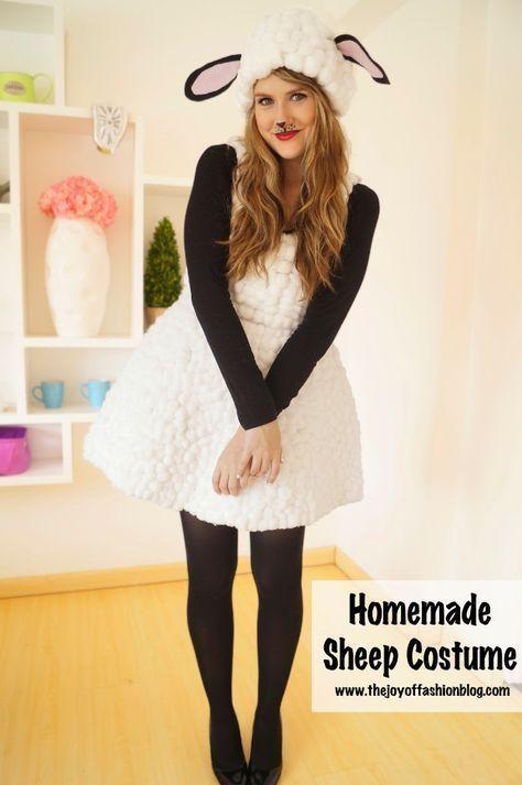 Best DIY Halloween Costume Ideas - Cute Homemade Lamb Costume - Do - homemade halloween costume ideas men