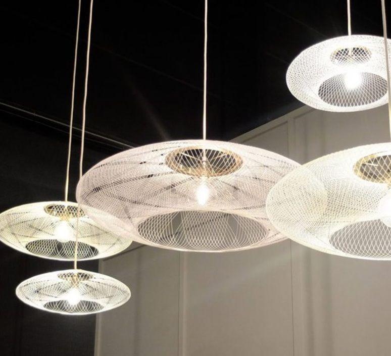 Suspension UFO Medium blanc ˜60cm H18cm Atelier Robotiq