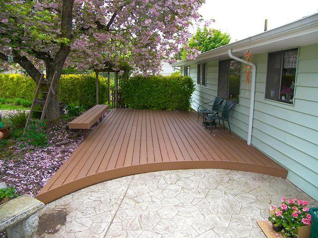 Good Trex Deck With Curved Edge! Http://tntbuildersinc.com