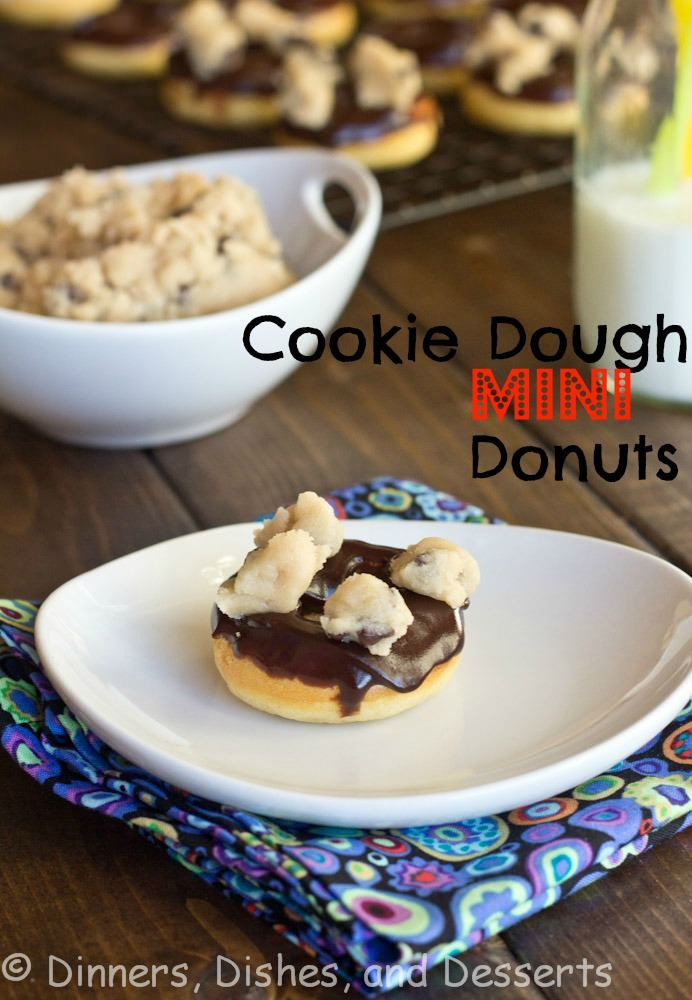 pinning for the egg less cookie dough! Cookie Dough Donuts