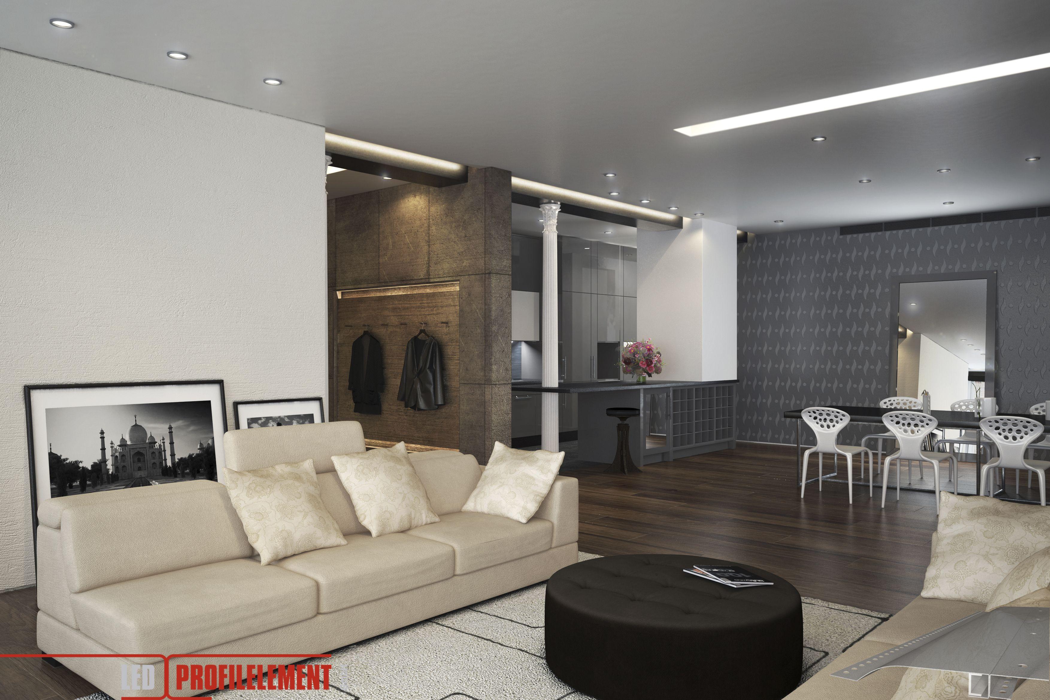 Lichtdesign mit LED Beleuchtungslösungen für Decke Wände Böden