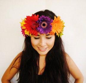Colourful flower headband  580a7adf446