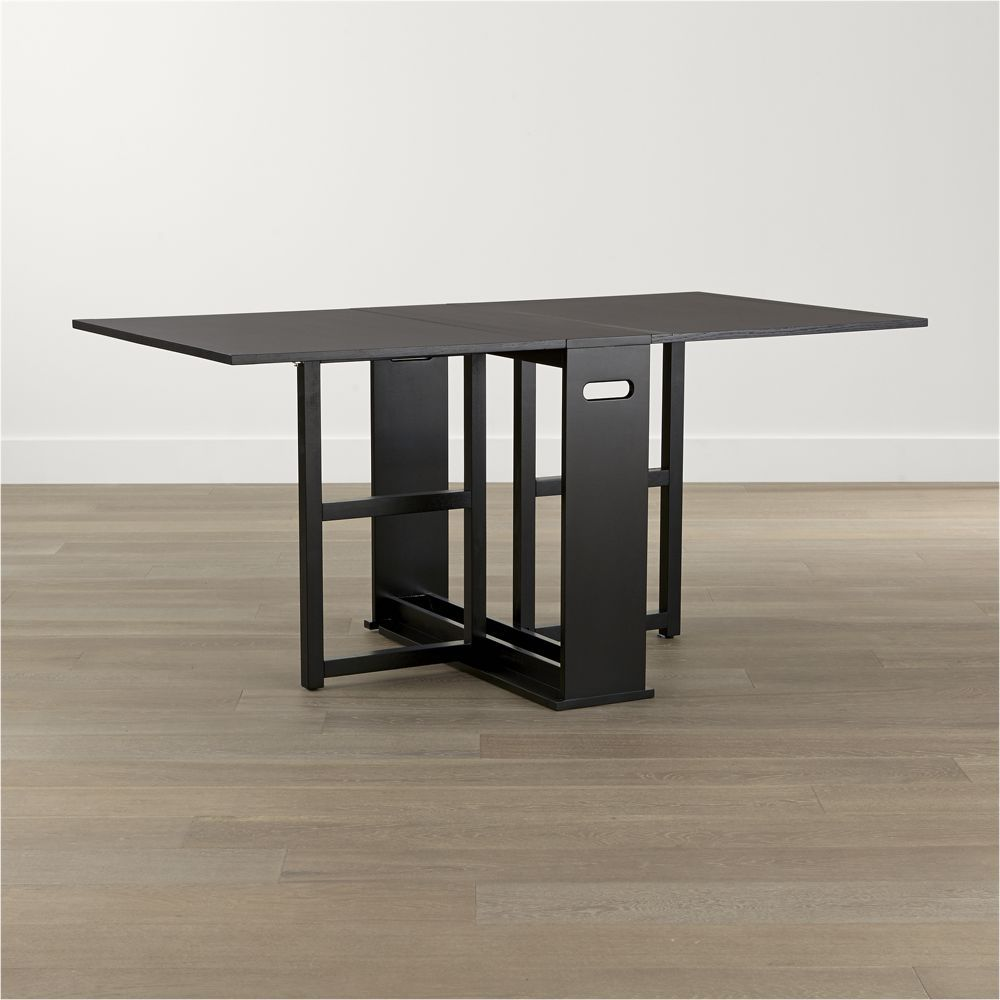 Span Black Gateleg Dining Table Crate