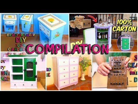 5 awesome crafts with carton boxes simple compilation diy youtube