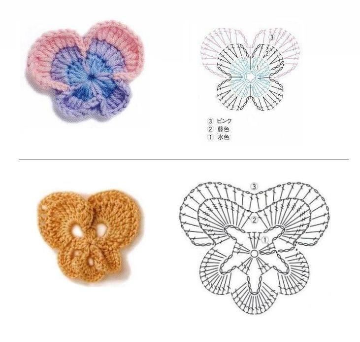 Único Crochet Patrón De Flor De La Margarita Ornamento - Manta de ...