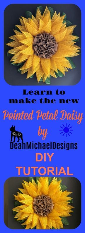 Photo of Pointed Petal Daisy Wreath Tutorial by DeanMichaelDesigns