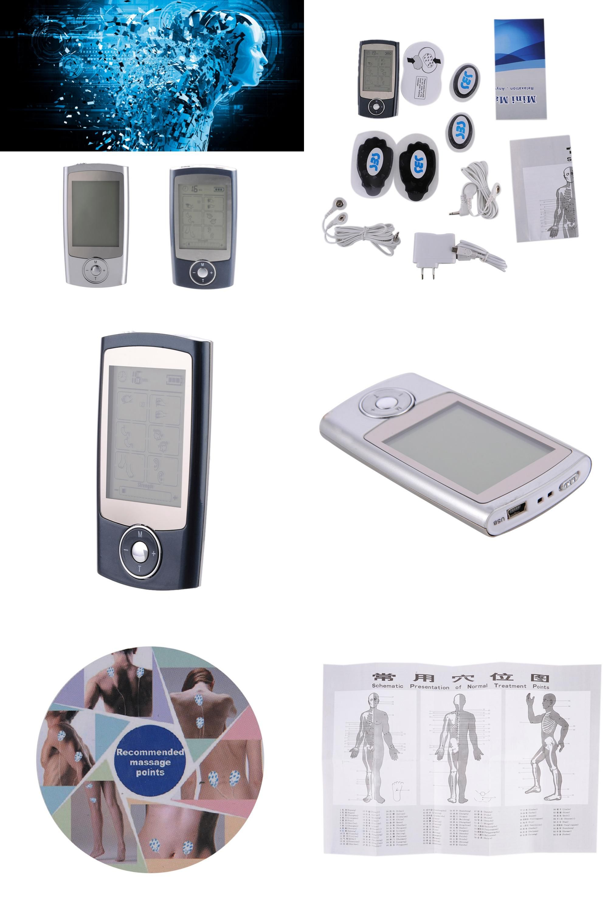 Visit to Buy] Rechargeable Digital Electronic Pulse Massager 16