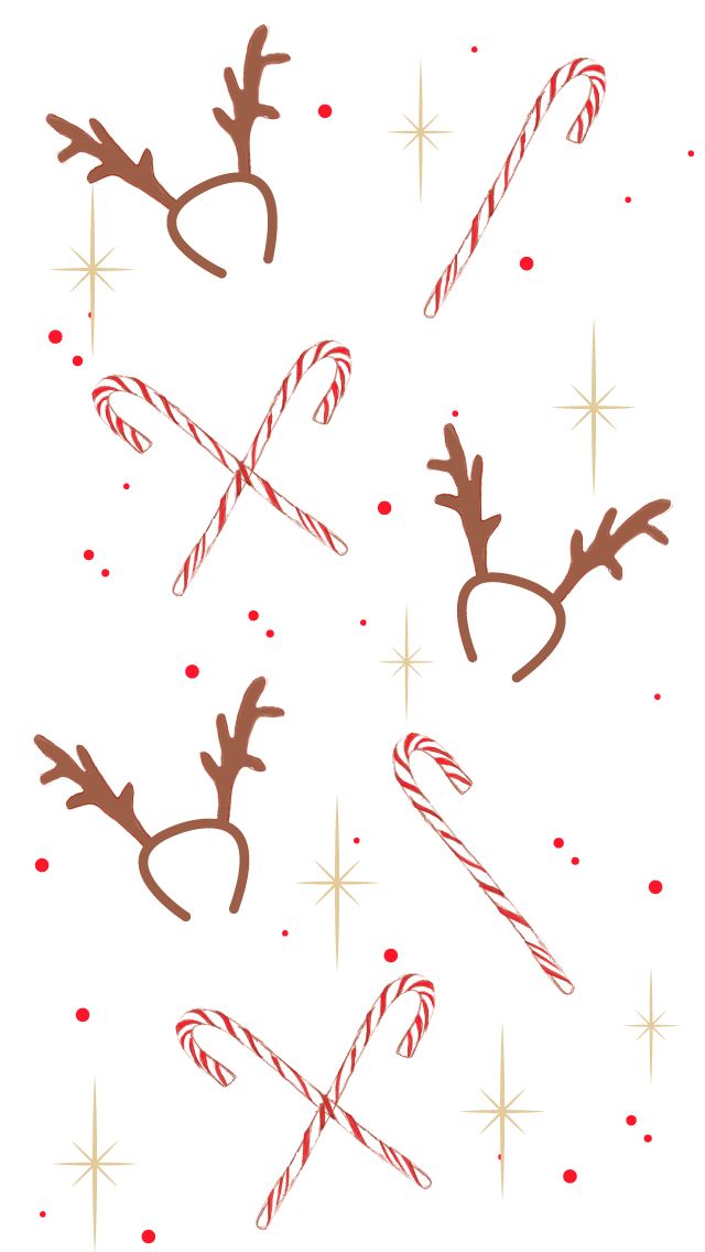 Christmas New Year Girl iPhone Home Wallpaper @PanPins