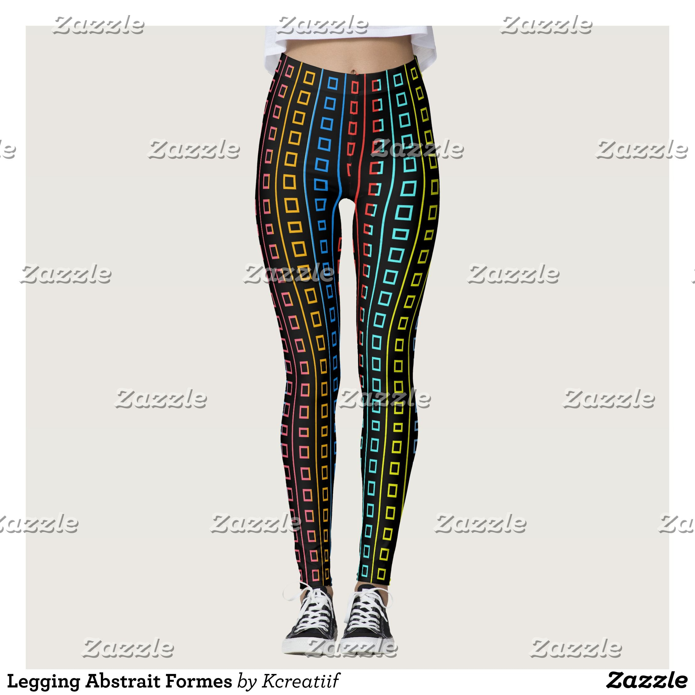 Legging abstracts forms beautiful yoga pants