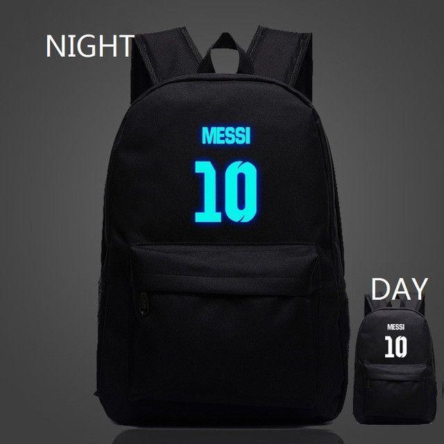 VN Brand Messi Bag 10# Night Luminous Backpacks Messi Fan Bag Star Backpack School Bag For Teenagers Best Birthday Gift For Kids