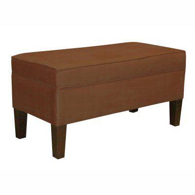 Skyline Upholstered Storage Bench Chocolate   848PCHOCOLATE Design Ideas