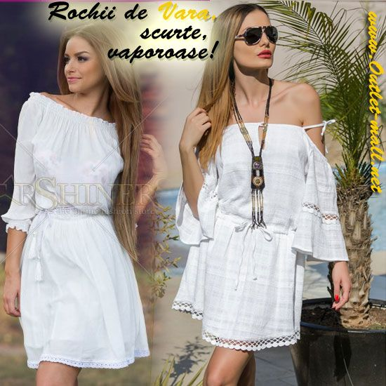 Poarta rochii de vara scurte cat mai vaporoase, albe sau in culori cat mai deschise!