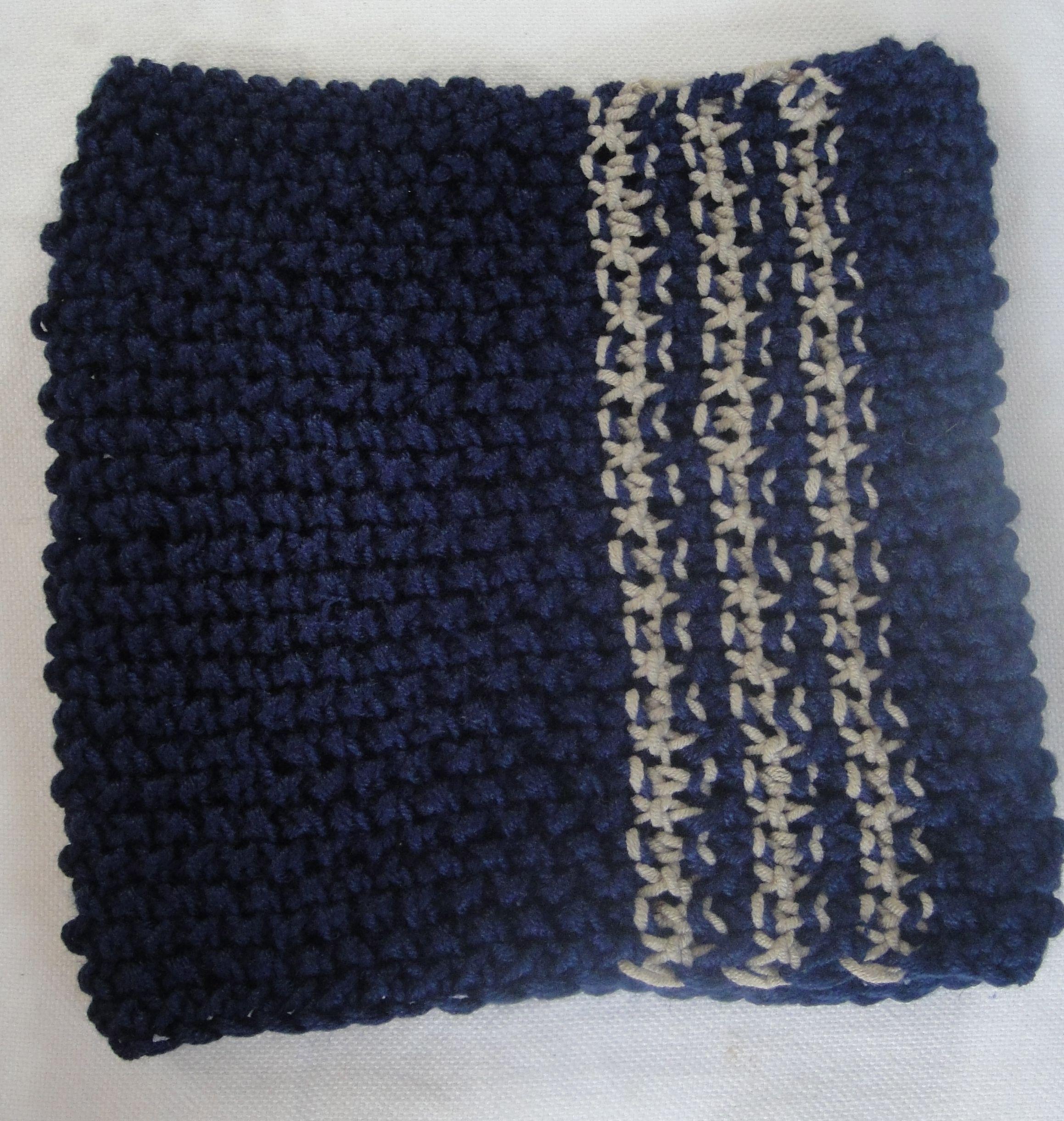 Cuello tejido en dos agujas ( Punto arroz).