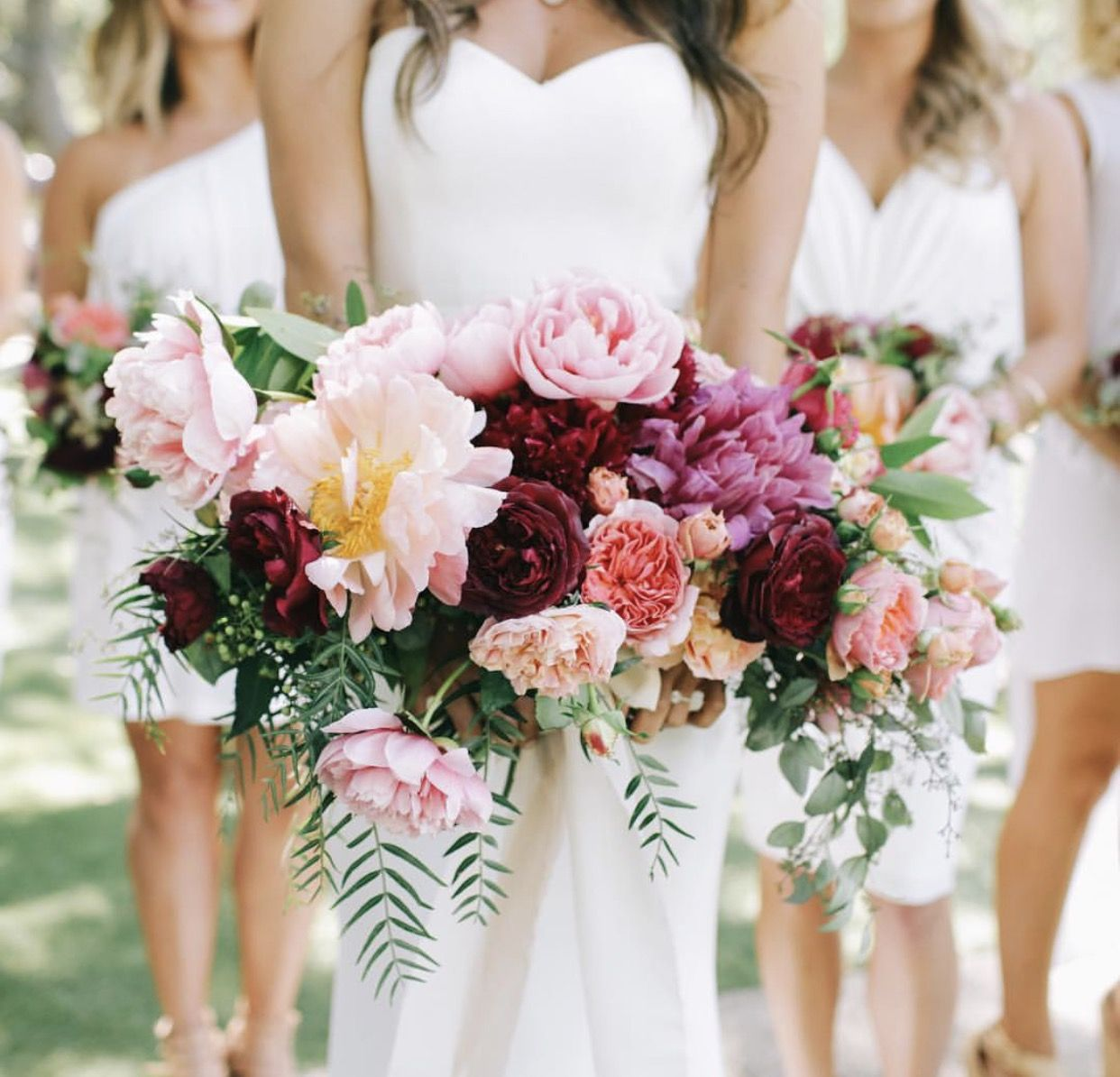 Blush Pale Pink Peach Lilac And Burgundy Lilac Wedding Colors Pink And Burgundy Wedding Peach Wedding Flowers