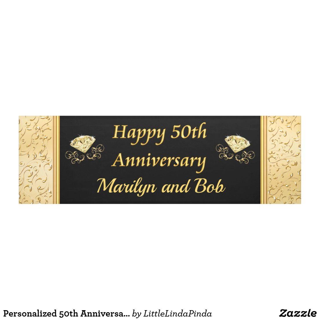 Create Your Own Banner Zazzle Com Anniversary Banner Happy 50th Anniversary Banner