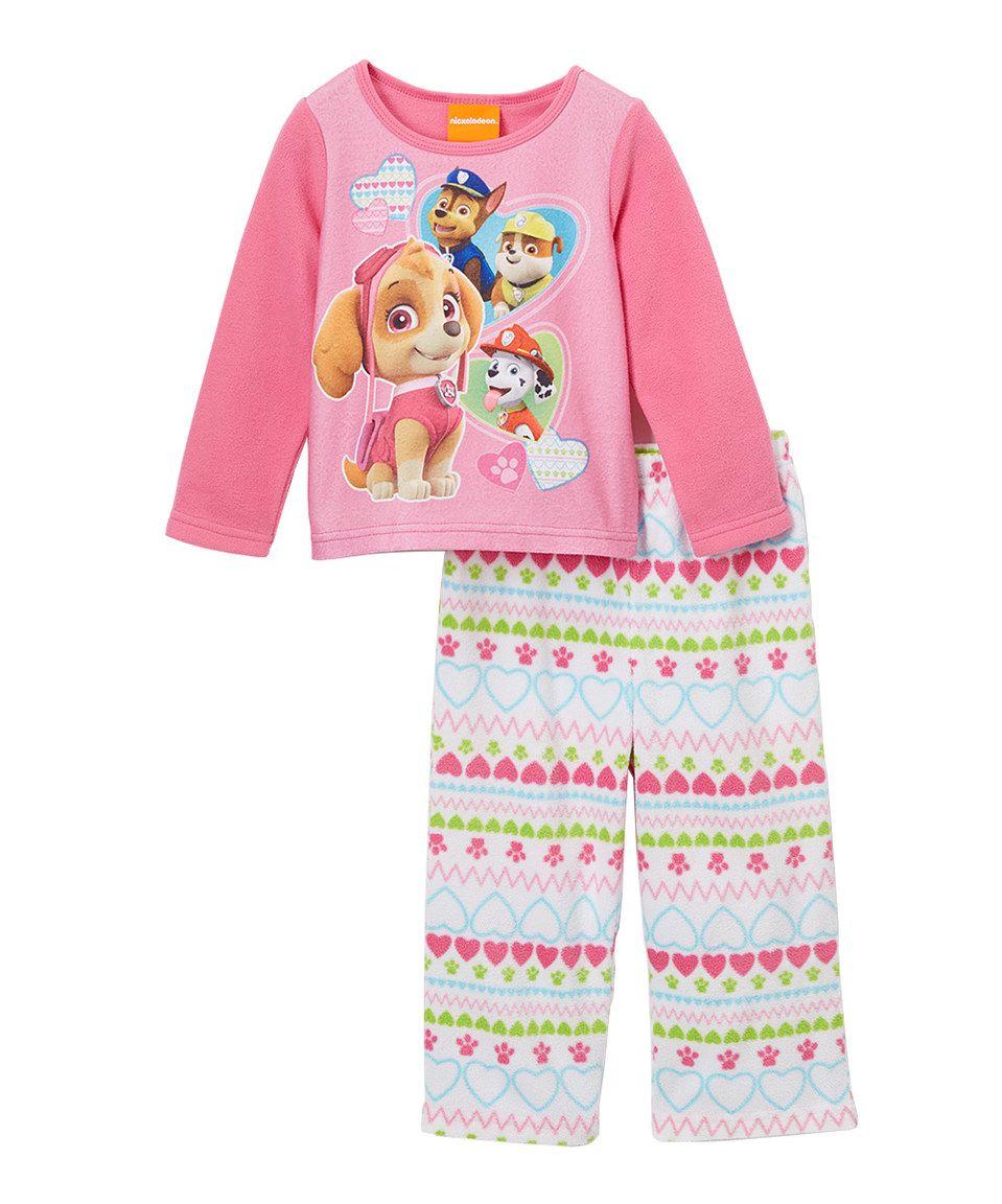 1ab36da92 Love this PAW Patrol Pink Pajama Set - Kids by AME on  zulily ...