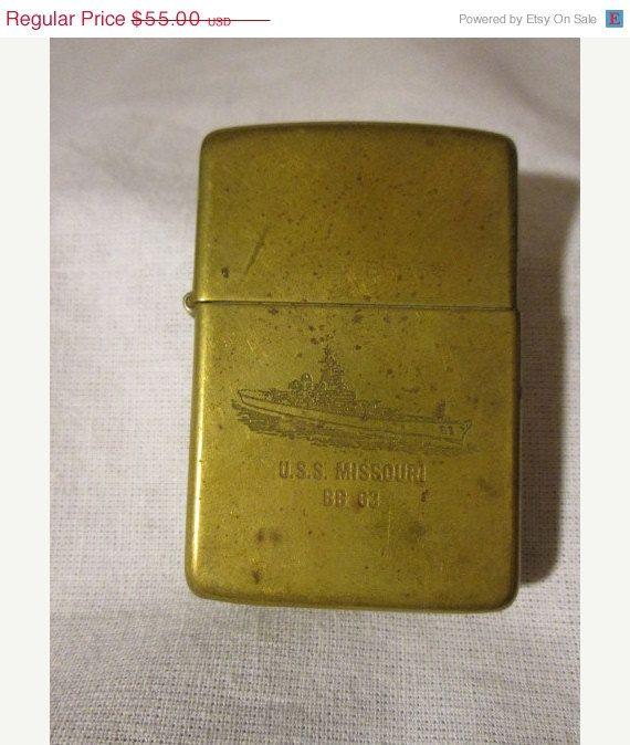 Vintage Zippo Solid Brass Lighter Uss Missouri Bb 63 Formal Etsy Zippo Zippo Lighter Uss Missouri