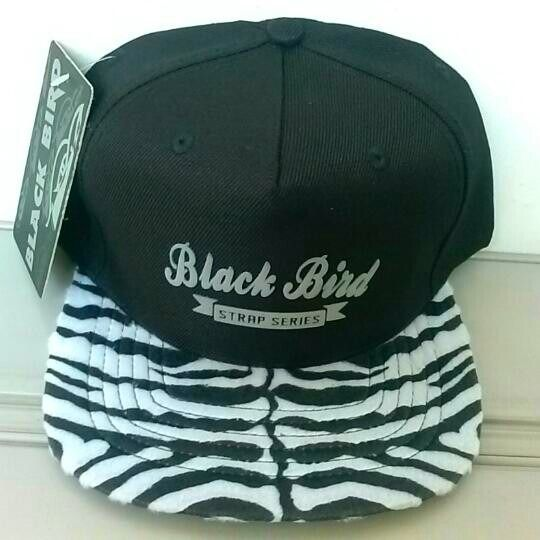 boné aba reta black bird snapback